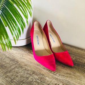 Hot Pink Manolo Blahnik Heels